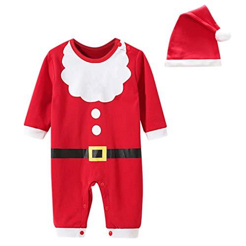 Kostüm Boy Armee - squarex ® Boy Netter Weihnachtsspielanzug Säuglingsoverall Outfits Baby Cosplay Kostüm Klettern Kleidung Freizeitspielanzug Bequemer Overall + Hüte