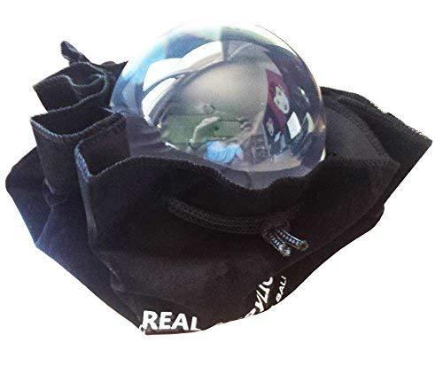 Balle de contact Acrylique Transparente 90mm 520g avec Housse de protection