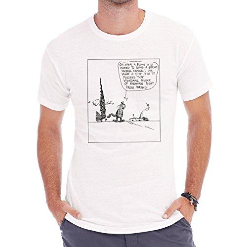 Krazy Kat Comic With Qoute Herren T-Shirt Weiß