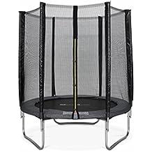 Alice's Garden - Cama elastica, Trampolin de 180 cm, Gris, altura de la red de seguridad 150 cm - Cassiope