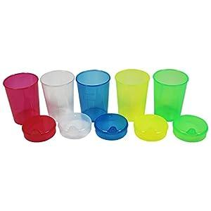 5Schnabeltassen + 5Deckel mit mittlerer Öffnung (8×4),Trinkbecher,Schnabelbecher