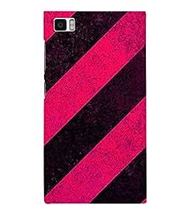 HiFi Designer Phone Back Case Cover Xiaomi Mi3 :: Xiaomi Mi 3 ( Pink Black Pattern Design )