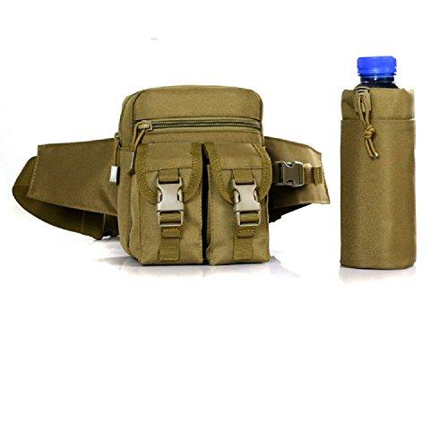 Utility fuori porta bottiglia di acqua sport multifunzione borse vita da uomo leggera cintura marsupio, ACU Digital CP camo