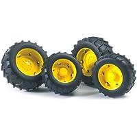 Bruder 02321 - Doble Rueda para tractores Serie 2000 Llantas amarillas