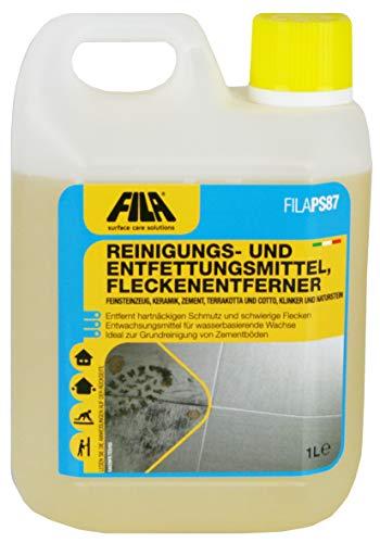 FILA PS87 Reinigungs- und Entfettungsmittel, Fleckenentferner Cotto, Klinker, Naturstein, Keramikfliesen 1 l. für bis zu 50 qm