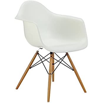 vitra eames plastic side chair dsw untergestell ahorn gelblich sitzschale wei 440023000204. Black Bedroom Furniture Sets. Home Design Ideas