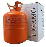 Pasamo 250 Helium MEDIUM in Deutschland abgefülltes Marken Heliumgas nach DIN EN ISO 14175 Ballongas mehr als 99% Rein - Orange To Go Edition - Stahlflasche GROSS mit 0,25 m³ = 250 Liter PRALL gefüllt