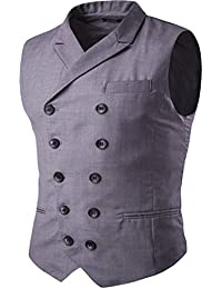 Para hombre Slim Fit Business Casual Premium chaleco chaleco doble breasted Smart chaleco