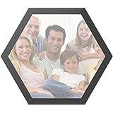 ANGGO Marco de Fotos magnético Hexagon, Autoadhesivo, para el frigorífico, Fotos de Bolsillo, etc.
