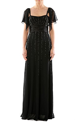 MACloth Women Long Mother of the Bride Dress Wedding Party Formal Gown Sleeves Burgundy
