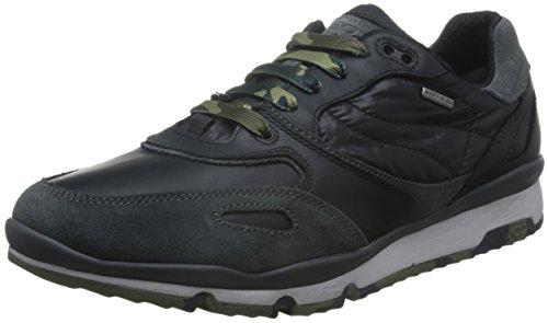 Geox U SANDRO B ABX A, Herren Sneaker Grau (Black/Anthracitec9270)