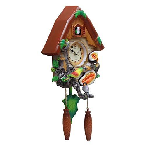 Cartoon Uhr Quarzuhr Mute Kinder Wanduhr Wohnzimmer Fashion Clock Hanging Cuckoo-Musik-Taktgeber,3