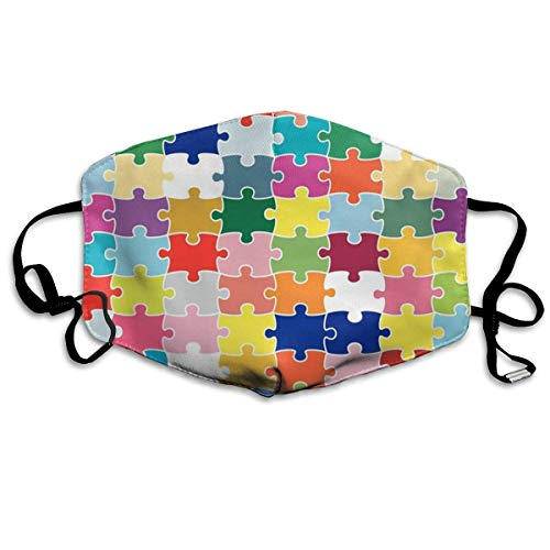 New Autism Awareness Child Puzzle Anti-dust Cotton Mouth Face Masks Mouth Cover for Man and Woman