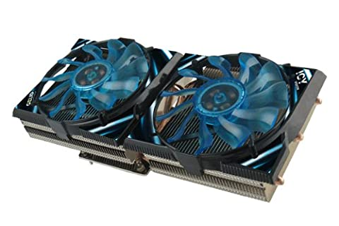 GELID SOLUTIONS ICY VISION A VGA 02-02 Kuehler fuer AMD HD5850 bis HD7970 5 Heatpipes 2 x 92mm Luefter CrossFire SLI (Hd 6870)