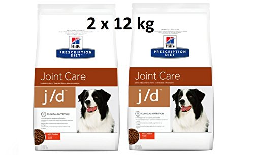Hill\'s Prescription Diet j/d 2 x 12 kg Joint Care Hundefutter mit Huhn