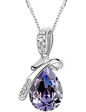 FANSING Schmuck Luxus Österreichischer Kristall Halskette Anhänger für Damen Mädchen