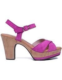 159dc2e1399 Zapatos miMaO. Zapatos Piel Mujer Hechos EN ESPAÑA. Sandalia Tacón Mujer.  Sandalia Plataforma