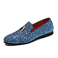 Dongxiong Simple and classic driving loafers men casual shoes slip in the style PU amphetamine considerable color experience, Inc. stitch Pointed Toe soft rhinestone metal ring of decoration