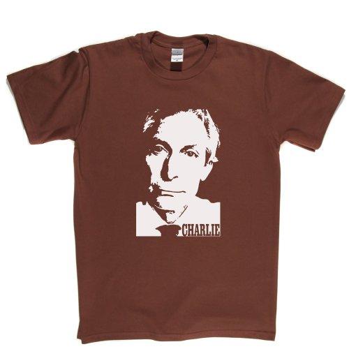 Charlie Watts English Jazz Drummer Legend T-shirt Braun