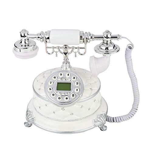 ASHATA Teléfono Vintage Europeo,Teléfono Fijo Retro/Antiguo,Teléfono de Sobremesa para Hogar/Oficina/Hotel Estrella/Galería de Arte/Negocio de la Joyería, etc.