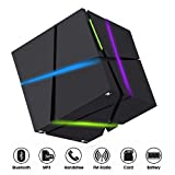 Mini Bluetooth Lautsprecher,TKSTAR Portable LED Beleuchtung Lautsprecher Stereo Magic Cube Mini Wireless Bluetooth Lautsprecher mit Mikrofon für Smartphones iPhone Samsung Tablet Laptop QONE BL