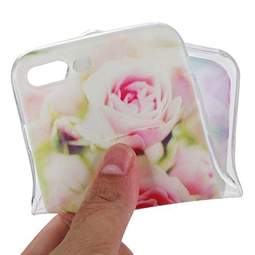Per iPhone 7 Plus 5.5 Custodia morbido,Herzzer Mode Crystal Creativo Elegante fiori [Fuck]Quadro Dipinto Design trasparente case cover,Protettivo Skin in Liscio Smooth Toccare Unico Molto sottile Mod Rosa Rose