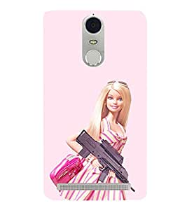 EPICCASE Armed Barbie Doll Mobile Back Case Cover For Lenovo K5 Note (Designer Case)