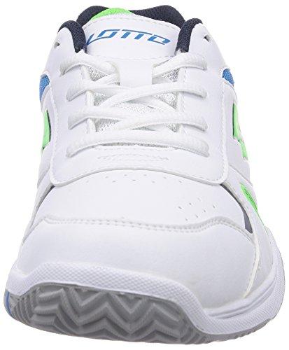 Lotto Sport Stratosphere Jr L, Baskets de tennis mixte enfant Multicolore - Mehrfarbig (WHITE/FL MINT)