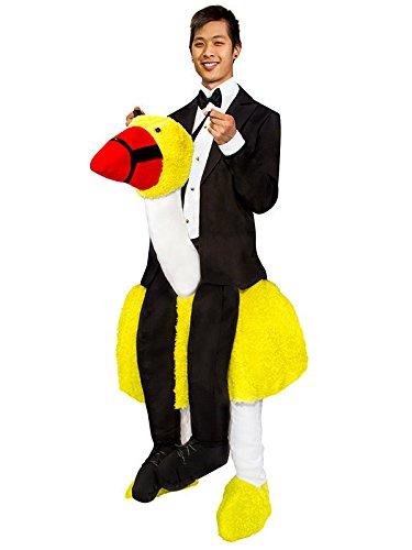 Orion Carry Me Retro Komiker Kostüm mit Vogel schwarz-Weiss-gelb Einheitsgröße