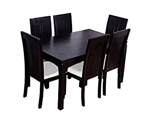 Ringabell Elmond Six Seater Solid Wood Dining Table (Mahogany Finish)