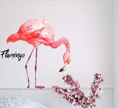 Flamingo stickers modern fashion Scandinavian home decor accessories poster Animal watercolor print stickers baby room wall diy 73 * 73cm Animal Print Sticker