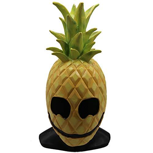 S+S Lustige Maske, Halloween Lustige Ganze Frucht Ananas Vollkopf Maske Requisiten Kleidung Party Requisiten Liefert Latexmaske Alle Universell Geeignet Für Kinder Erwachsene