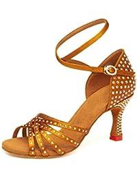 336d7e67 LL Mujer Brillando Rhinestone Zapatos De Baile Modernos Sudor Copa De Vino  Con Zapatos