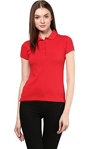 Trend 18 Women's Cotton Polo T-shirts With Collar