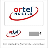 Ortel Mobile Prepaid Guthaben - für Deutschland - per E-Mail