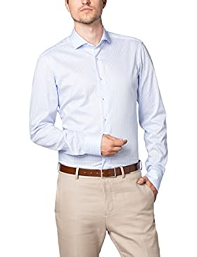 ETERNA Langarm Hemd SLIM FIT Twill gestreift
