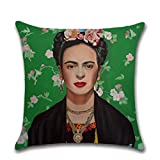 Nunbee Kissenbezug Selbstporträt Design der Der mexikanische Maler Frida Kahlo bettwäsche Platz Dekorative Akzente Setzen Fall Sofa zierkissen, Bild 1 45 * 45cm