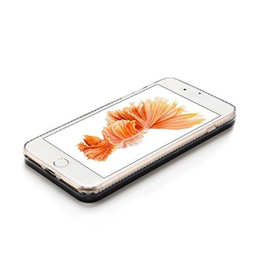 Cover iPhone 7 plus Custodia iPhone 7 plus Liquido Anfire Trasparente Rigida Duro Plastica PC Case per Apple iPhone 7 plus (5.5 Pollici) Sabbie Mobili Shell 3D Bling Glitter Floating Quicksand Copertu Piuma