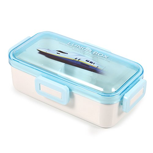 Fdit scatole porta pranzo con chiusura sicura misure materiale pp portapacchi porta alimenti portatile per studenti 3 colori viola blu rosa 3 dimensioni(bleu s)