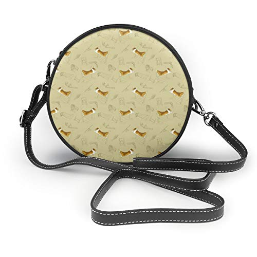 Handbags For Women,Agility Shelties - Khaki PU Leather Shoulder Bags,Tote Satchel Messenger Bags