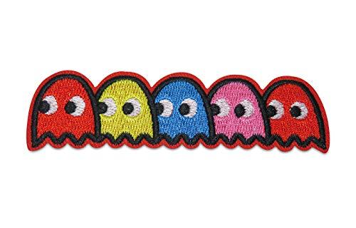 Finally Home Pacman Figuren Bügelbild Patch zum Aufbügeln   Patches, Aufbügelmotive (Entfernen Sie Kleidung Mädchen)