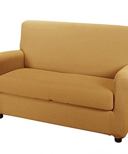 CAMBIO MELANGE COPRIDIVANO per divano a 2 POSTI colore OCRA