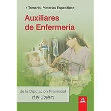 Auxiliares De Enfermería De La Diputación Provincial De Jaén. Temario Materias Específicas