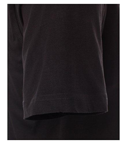 CASAMODA Herren T-Shirt 2 er Pack Comfort Fit 092180/80 Schwarz - uni (80)