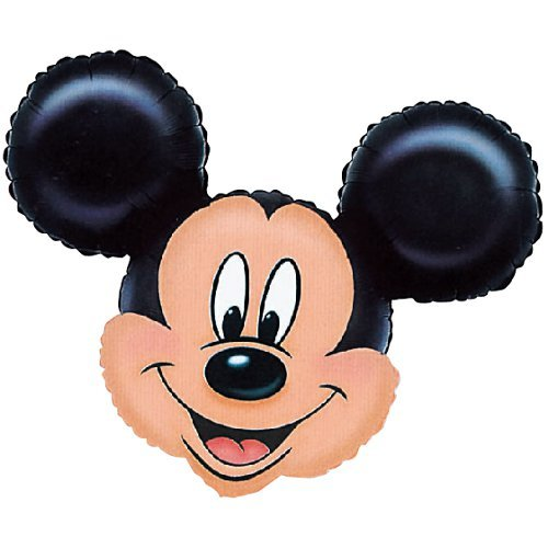 Anagram 0776401 - Party und Dekoration - Folienballon Super Shape - Disney Mickey Mouse, circa 69 x 53 cm (Luftballons Helium-mickey-mouse)