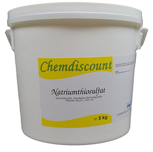 5kg Natriumthiosulfat (-penthydrat), Na2S2O3, Fixiersalz, chem. rein., versandkostenfrei!