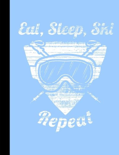 Eat, Sleep, Ski Repeat, Winter Snow Composition Notebook: 4x4 Quad Rule Graph Paper, 101 sheets / 202 pages por SLO Treasures