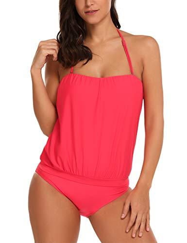 Badeanzug Damen Bikini Bademode Neckholder Swimsuit Neu Fashion Schwimmanzug Sexy Rückenfrei Bademode Schlankheits Badeanzug Strandbekleidung -