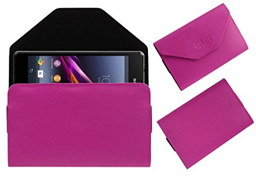 Acm Premium Pouch Case For Sony Xperia Z1 Compact Flip Flap Cover Holder Pink  available at amazon for Rs.329