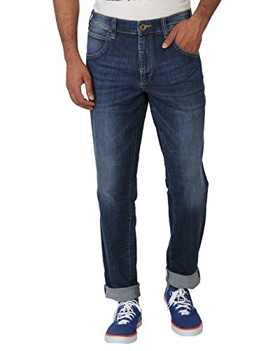 Calvin Klein Mens Blue Regular Fit Jeans
